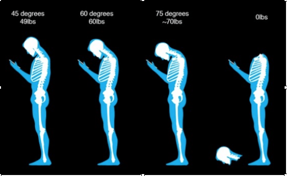 Head Alignment During Cell Phone Use
